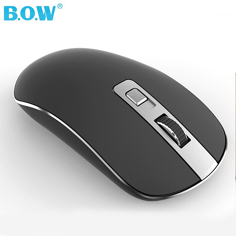 B.O.W 2.4GHz Wireless Mouse(Ergonomic Design) Silent Click Compact Soundless Optical Mice with Nano USB Receiver for PC and Mac