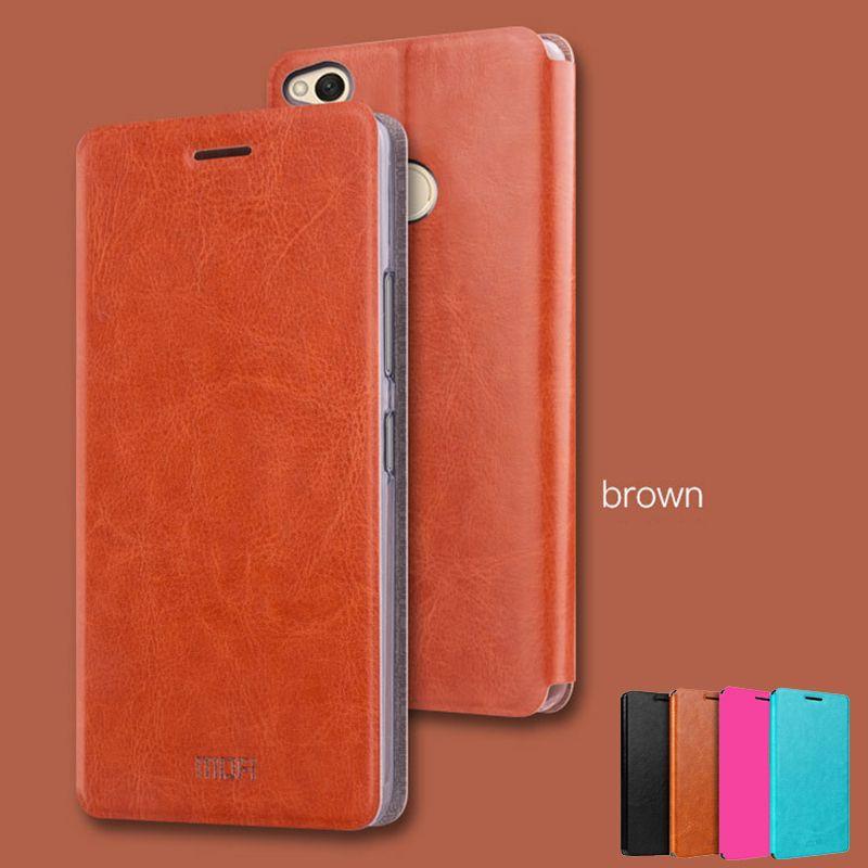 Pour Xiaomi Redmi 4x Cas MOFI Étui Pour Xiaomi Redmi 4x Pro Haute Qualité Flip Housse En Cuir Pour Xiaomi redmi 4x5.0''