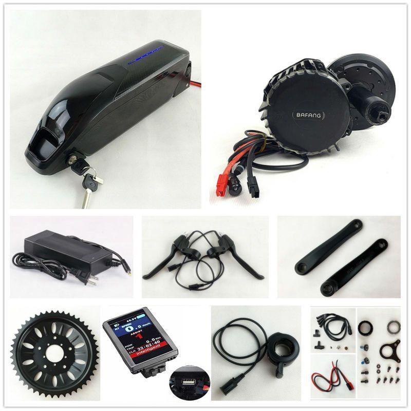 US EU No Tax 48V 1000W BafangBBSHD BBS03 8Fun mid drive Motor Kit with Sanyo GA cell 52V 14Ah Li-ion Dolphin E-Bike Battery