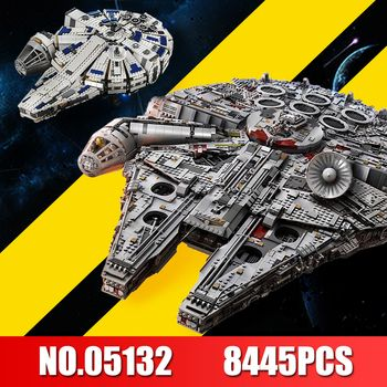 LEPIN 05132 Millennium Falcon Série Star Wars Ultimate Collector Modèle 8445 PCS Destroyer Blocs de Construction de BRICOLAGE Briques 75192