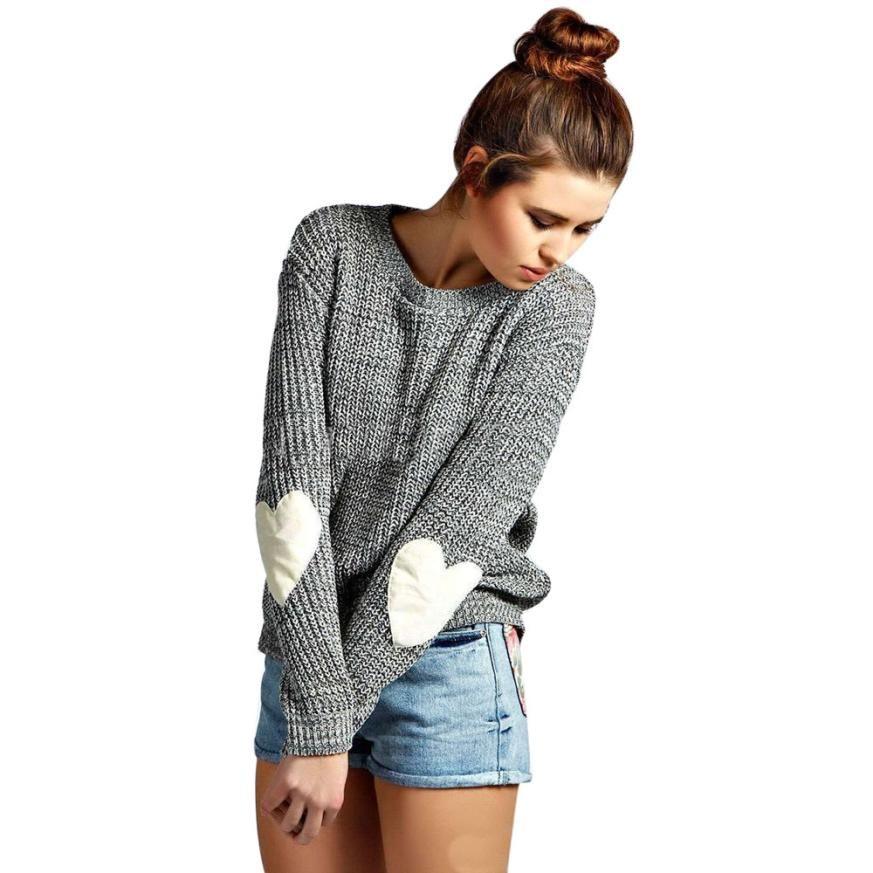 Poncho Hot Sale Real Vestido 2017 Hearted Warm Winter Sleeve Loose Cardigan Knitted Sweater Women Jumper Knitwear Outwear Femme