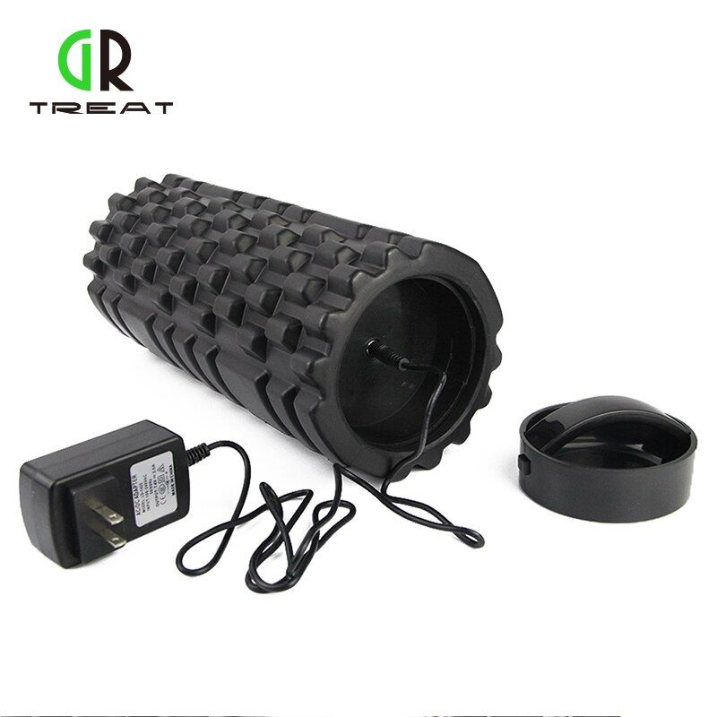 33*14cm Foam Roller Electric Massage Foam Roller Rechargeable Vibrating Pilates Crossfit Roller Massage