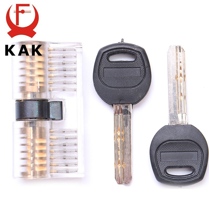 KAK Cutaway Inside View Of Practice Transparent Padlock Lock Training Skill Pick View Padlock For Locksmith With Smart Keys