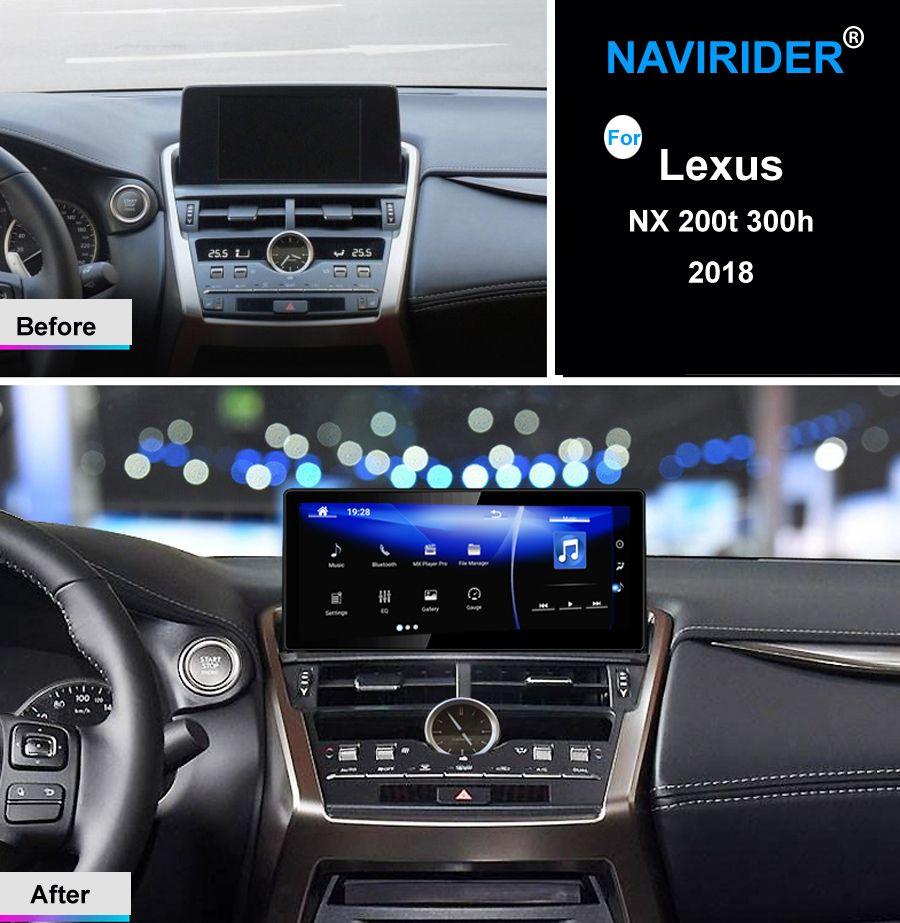 10,25 zoll Display NAVIRIDER Android 7.1 Auto Radio WiFi GPS Navigation Touchscreen für Lexus NX 200 t 300 h nx200 2018