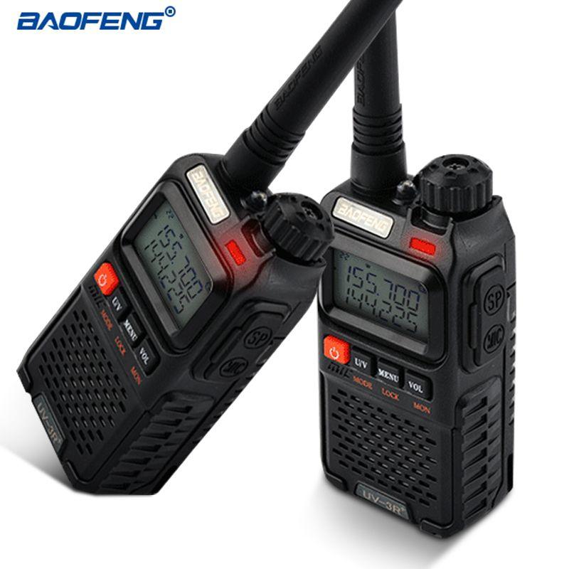 BAOFENG UV-3R+ Walkie Talkie VHF/UHF Dual Band UV-3R Plus Portable Walkie Talkie with Headset UV3R Two Way Ham Radio Tranceiver