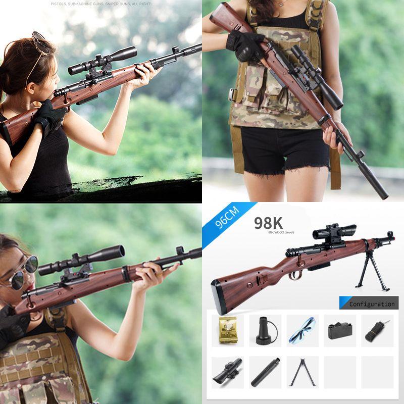 98K Sniper Rifle Water Paintball Toy Gun Soft Bullets Suit for Nerf Gun Toy PUBG 98K Guns Toy BUllets Suit for Nerf Toy Guns