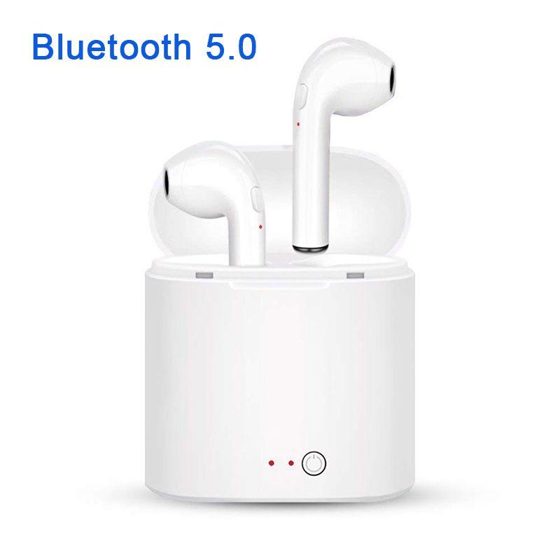 Nouveau i7S TWS Bluetooth 5.0 Écouteurs Casque Stéréo Basse casque sans fil écouteurs avec micro Boîte De Charge pour Tous Les smartphone