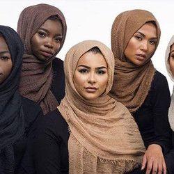 MUQGEW Nouvelle Arrivée Classique Prime Viscose Maxi Froissé Nuage Hijab Écharpe Châle Doux L'islam Musulman Gros et Au Détail Foulards