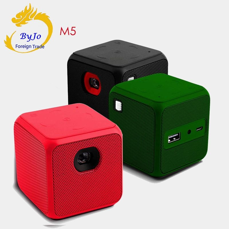 M5 Mini projektor Android Dual band WIFI Home cinema Big batterie proyector DLP projetor Tasche Pk P1 D6s G3 pro q8 DLP800W h96p