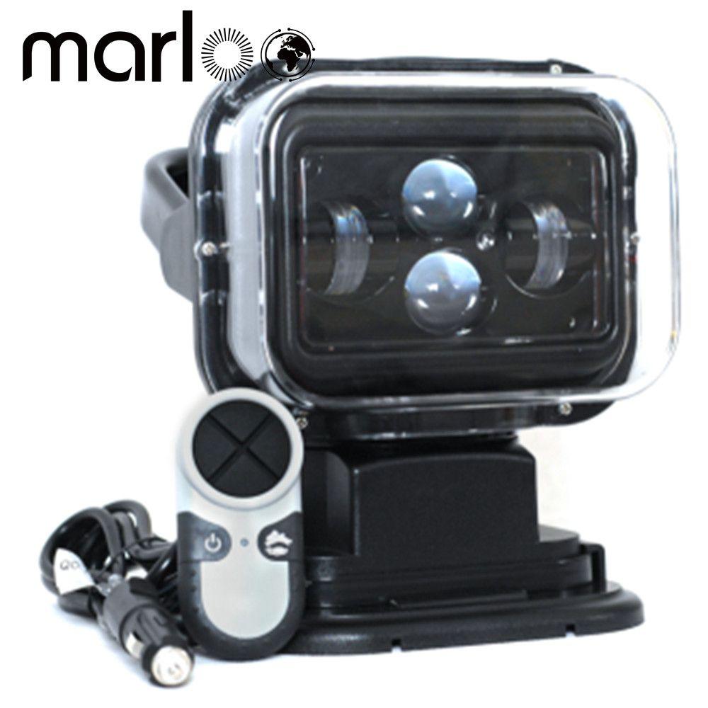 Marloo 1 stücke 7 zoll 60 watt 360 Grad Drahtlose Fernbedienung Led Spotlight Marine Suchscheinwerfer 12/24 v Für Lkw Off-road 4x4 Boot