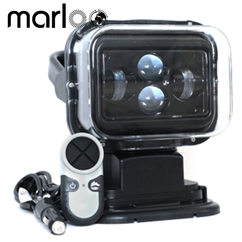 Marloo 1Pcs 7 Inch 60W 360 Degree Wireless Remote Control Led Spotlight Marine Search Light 12/24v For Truck Off-road 4x4 Boat