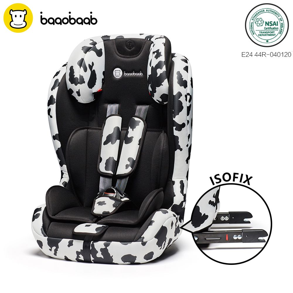 Baaobaab 750 2-in-1 ISOFIX Connector Car Seat 9-36 kg Portable Baby Children Booster Safety Seat Group 1 2 3, 9 months-12 Years
