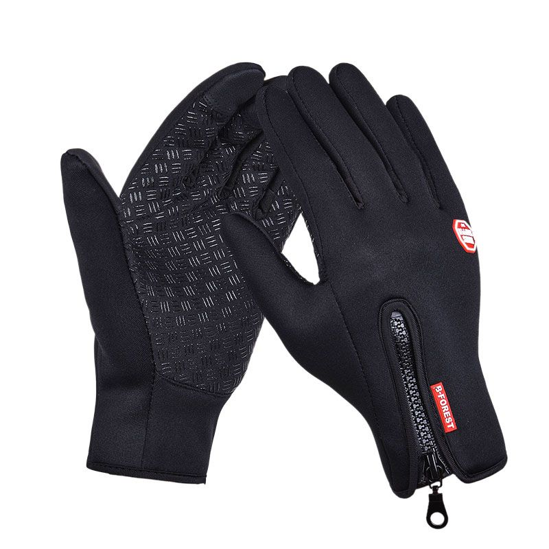 Outdoor Sports Hiking Winter Bicycle Bike Cycling Gloves For Men Women Windstopper Simulated Leather Soft Warm Gloves