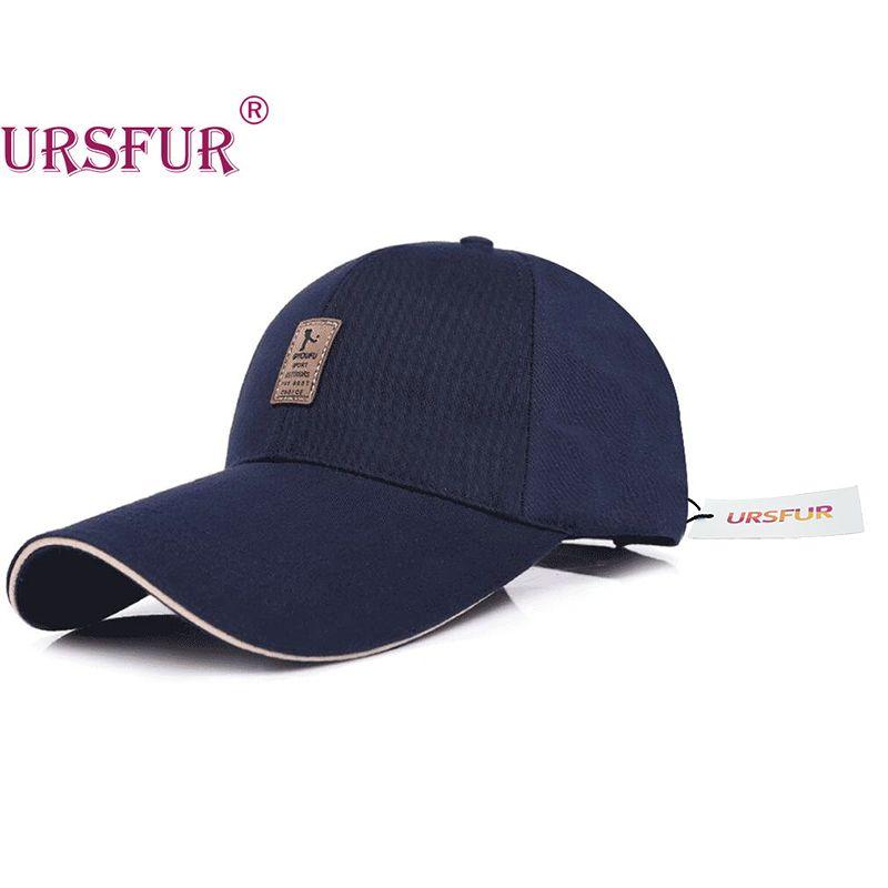 Ursfur Большой Брим Бейсбол Кепки Весна Кости Snapback длинный козырек шляпа Альпинизм Мода Досуг Hat Тенты 4 цвета 100% хлопок