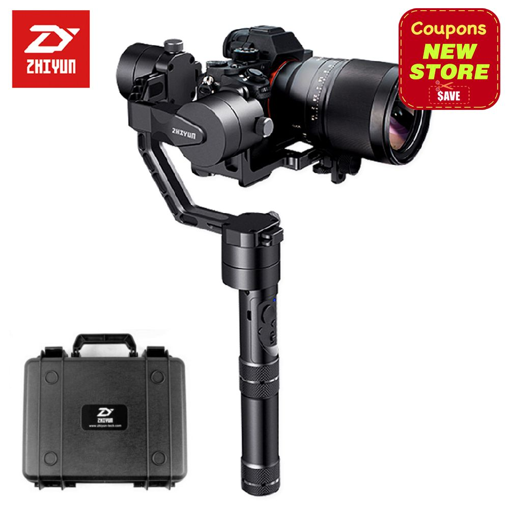 Newest Version Zhiyun Crane V2 3-axis Brushless Handheld Video Camera Stabilizer Gimbal Kit for Mirrorless DSLR Camera Sony A7