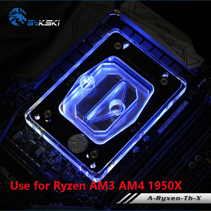 Bykski Water Cooling Radiator CPU Block use for AMD Ryzen ThreadRipper 940/AM2/AM3/AM4/X399 1950X RGB Light Radiator Block