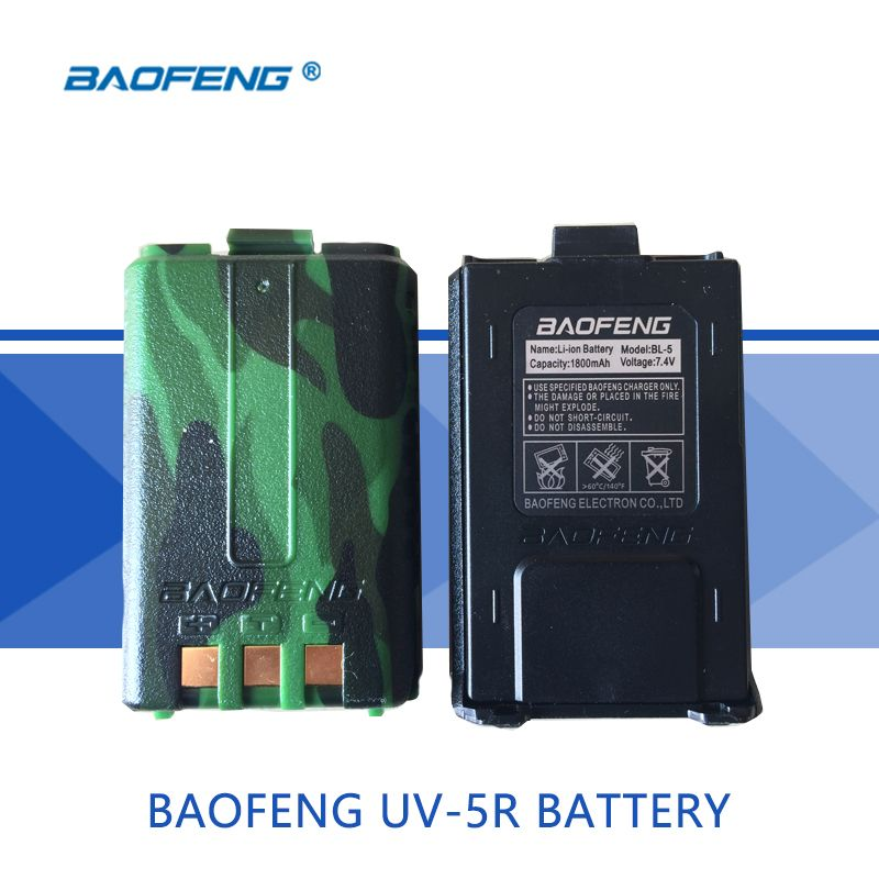 1Pcs UV-5R Original Battery All New 1800mAh Spare Battery Applicable to Bao feng UV 5R/5RE/5RA Walkie-Talkie Accessories