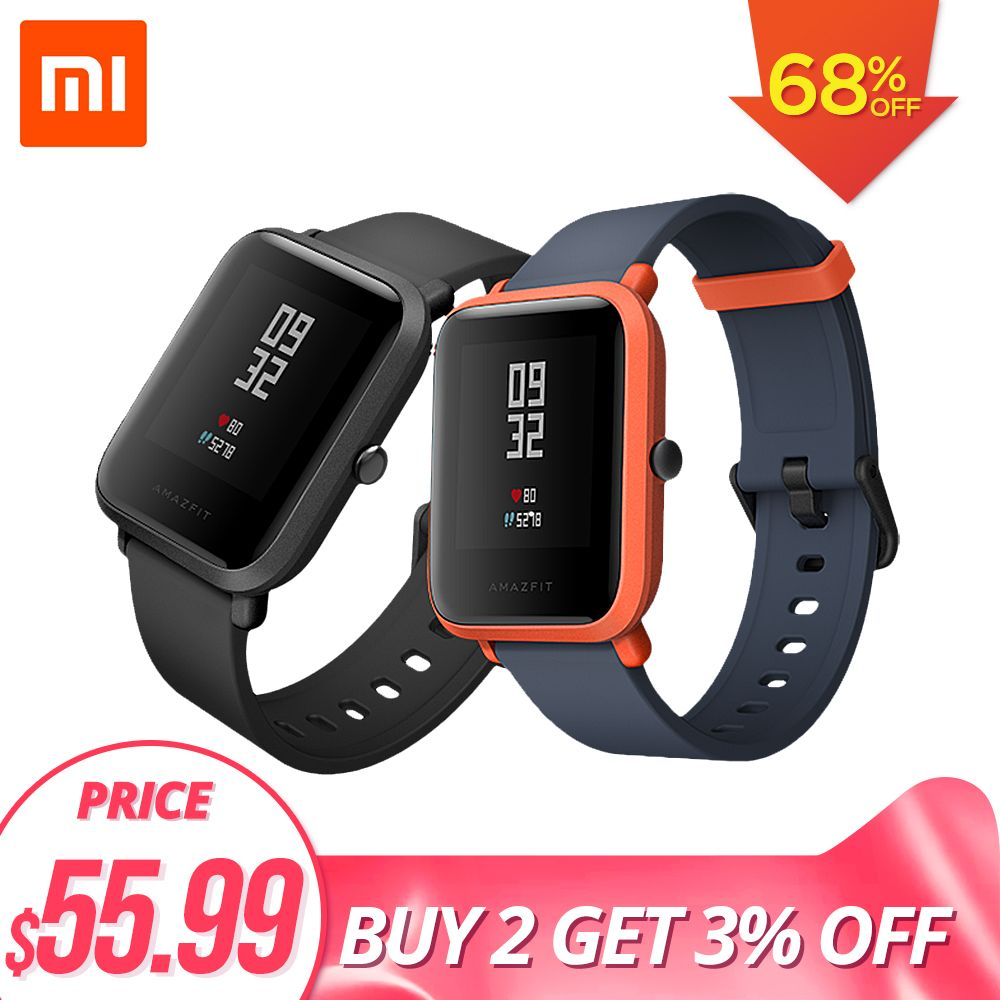 PLAZA Huami Amazfit Bip Youth Edition for Men Women GPS Smart Watch Bluetooth 4.0 Heart Rate 45 Days Standby IP68