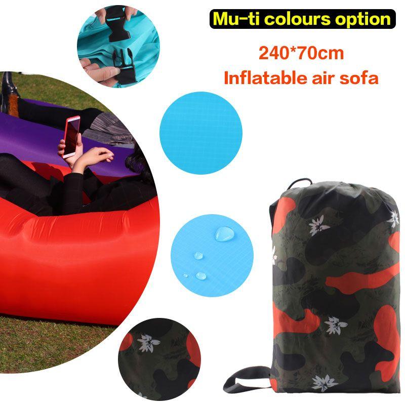 210 T Ripstop Tragbare Aufblasbaren sofa für innen-oder im freien wasserdichte Treffpunkt faul Aufblasbares schlafsack Faul tasche
