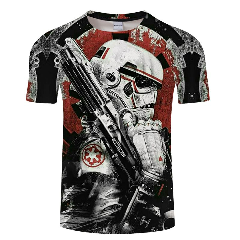 2019 men's fashion T-shirt Star Wars cartoon costume movie T-shirt.Harajuku adult darth vader funny men's T-shirt, American size
