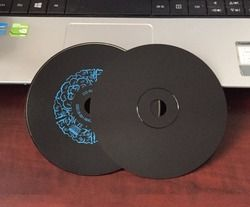Wholesale 5 discs A+Blank Printed 52x 700MB Black CD-R