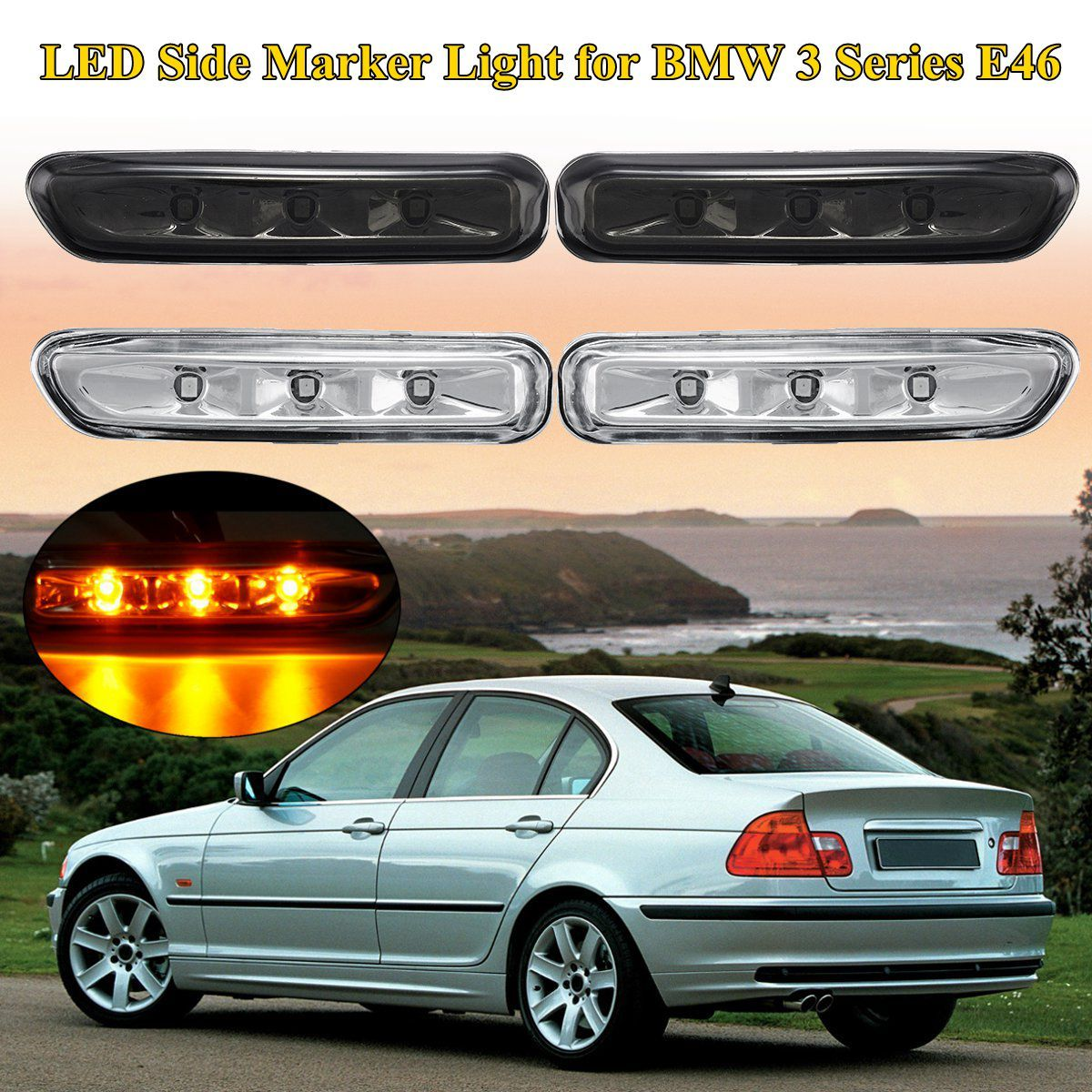 1 para Blinker Seite Marker Lampe Lichter Blinker Licht Für BMW 3 Serie E46 316I 318I 325I 12 v X3 E83 E90 4Dr/2Dr 99-03