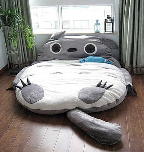 1.8x2.3m Huge Size Design European Cute Soft Bed Totoro Bedroom Bed Sleeping Bag Sofa 100% Cotton Hot In Japan And Canada