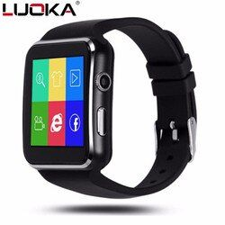 LUOKA Bluetooth Smart Watch X6 Sport Passometer Smartwatch with Camera Support SIM Card Whatsapp Facebook for Android Phone