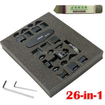 26 in 1 iphone gTool iCorner B-Series GB1100 For iPhone 5 5S 6 plus iPad 2 3 4 mini iPod 4 Corner Sidewall Bend Fix Repair Tool