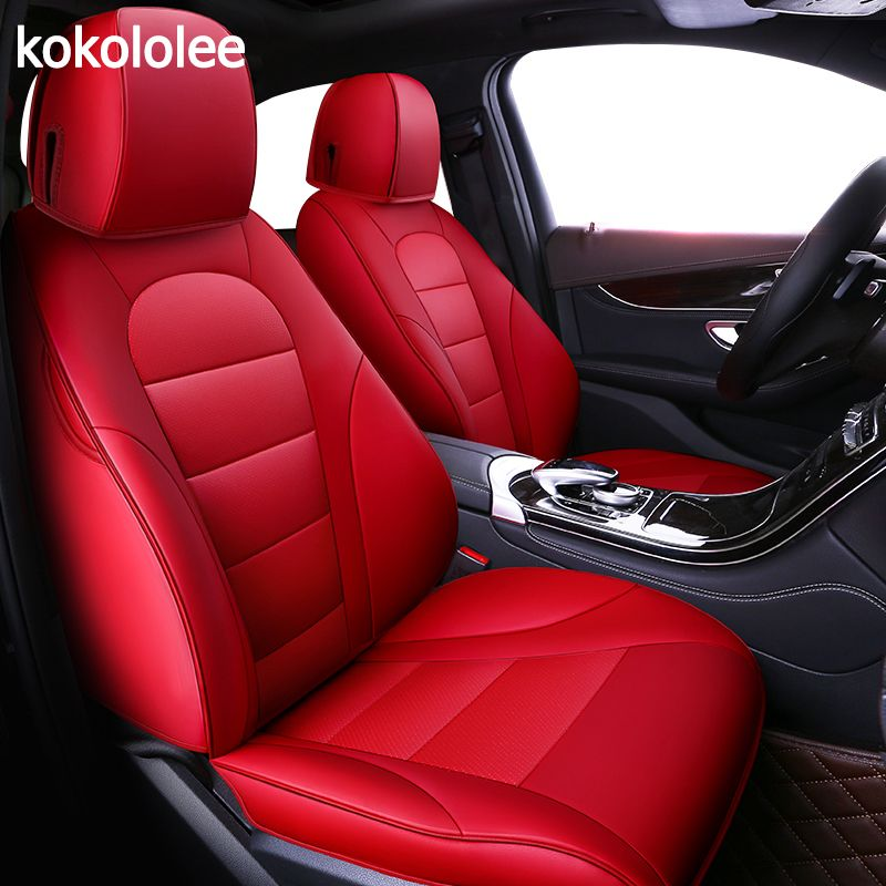 kokololee custom real leather car seat cover for Chrysler 300C PT Cruiser Grand Voager Automobiles Seat Covers car seats protect