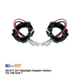 SAARMAT 2*Pieces Led H7 Car Headlight Bulbs Holder Adapter Base For Volkswagen Golf 7 New Touran Halogen upgrade to LED socket