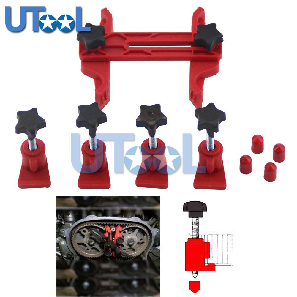 Universal 5pcs Dual Cam Clamp Camshaft Timing Sprocket Gear Locking Tool Kit