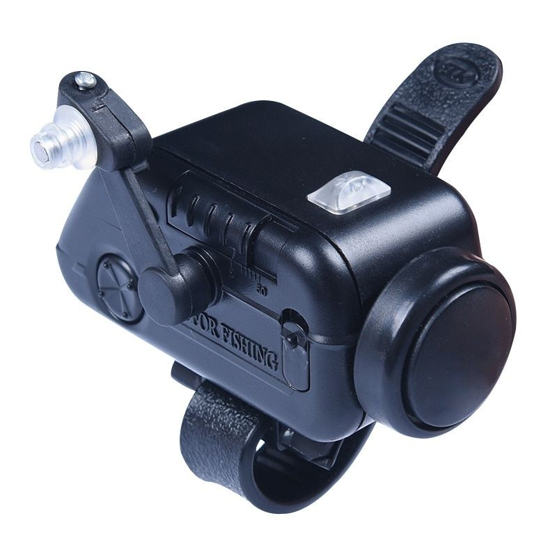 Alarme de morsure de poisson haute sensibilité noir Volume réglable canne à pêche Signal dispositif appât Alertor ABS alarme de poisson en plastique