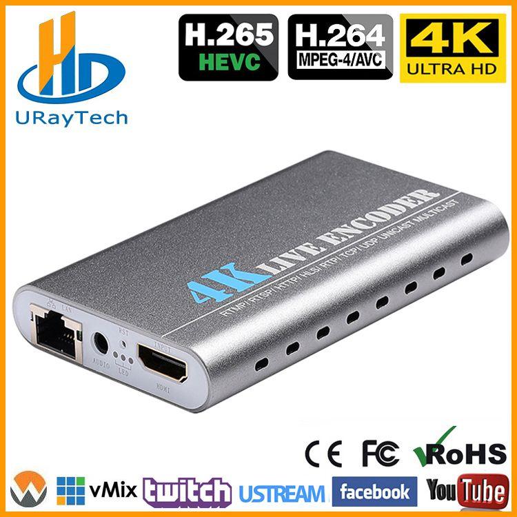 URay HEVC 4 K Ultra HD HDMI Zu IP Video Encoder H.265 H.264 IPTV Encoder Live-Streaming Encoder H265 Server
