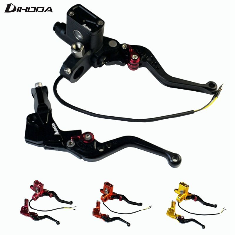 5 color PX6 CNC hydraulic brake clutch pump master cylinder lever Adelin Cable Clutch  universal motorcycle motorbike handle