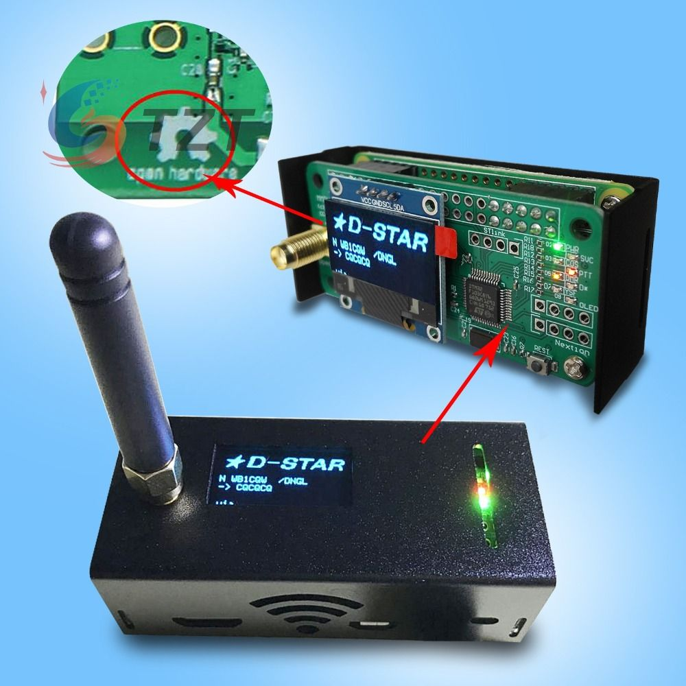 2018 Remote Walkie Talkie part Assembled MMDVM Hotspot Support P25 DMR YSF + Raspberry pi + OLED Hotspot