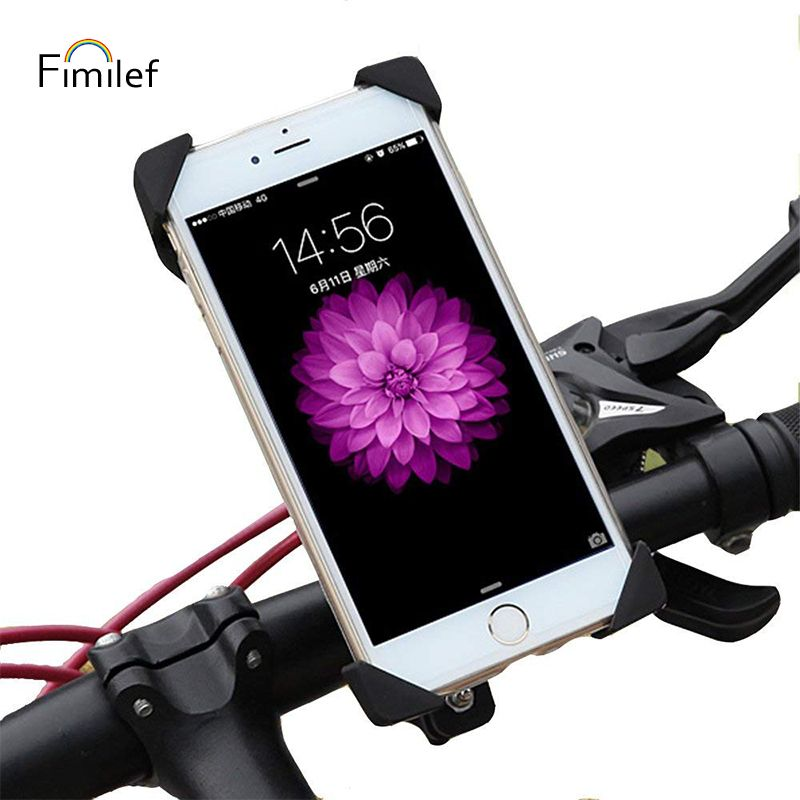 Fimilef Anti-Slip Universal Bike Mount for Phone Anti Shake Fall Prevention Bicycle Motorcycle Handlebar Clip Phone Holder Stand