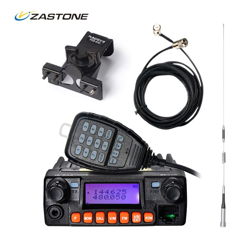 Zastone MP320 20W Mobile Radio Car Communicator VHF UHF 136-174/400-480MHZ 240-260MHz Two Way Radio Walkie-Talkie HF Transceiver
