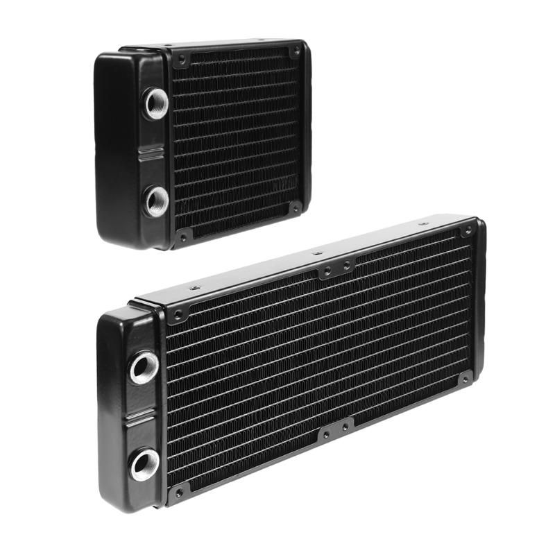 120mm/240mm 24 Tubes G1/4 Thread Water Cooling Radiator Double Water Cooled Heat Dissipation for PC Computer Water Cooling