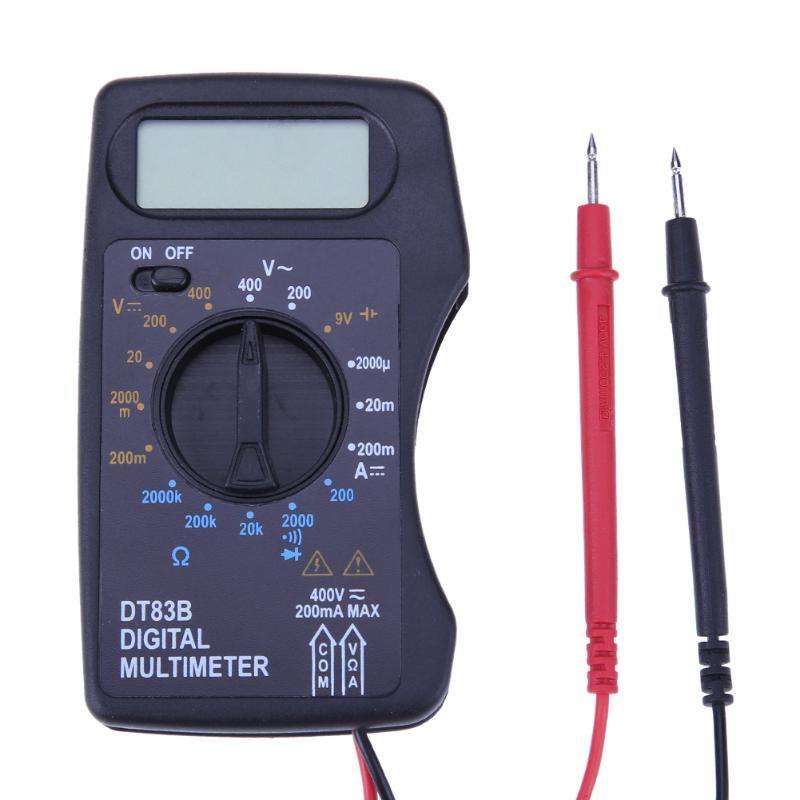 Tasche DT83B Digital Multimeter Amperemeter Voltmeter DC/AC Widerstand Ohm Spannung Multi Meter Tester Elektrische Instrumente heißer verkauf
