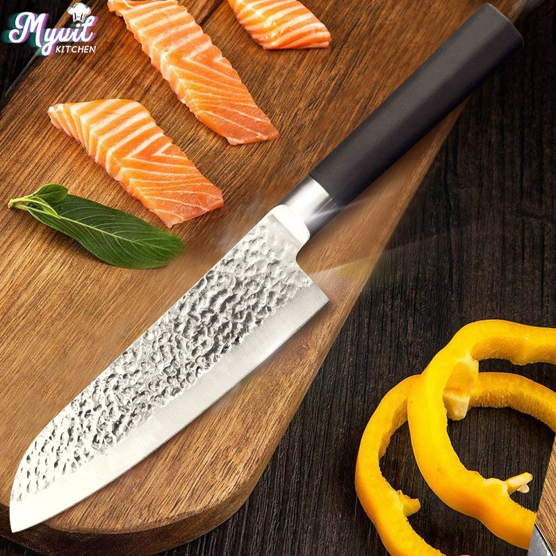 Kitchen Knife 7 Inch Chef Knives Japanese Utility Santoku Knife Meat Cleaver 50Cr15 420 High Carbon Stainless Steel dropshipping