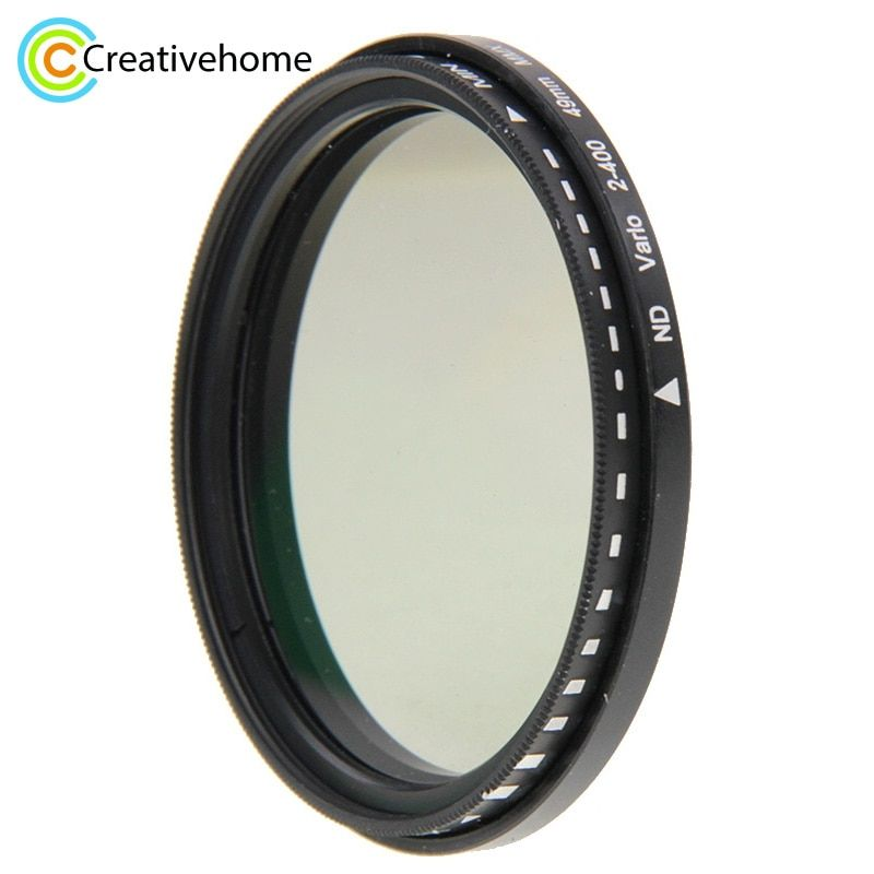 49mm 52mm 58mm 62mm 68mm 72mm 77mm 82mm ND Filter Lens ND Fader Neutral Density Adjustable Variable Filter ND 2 to ND 400 Filter