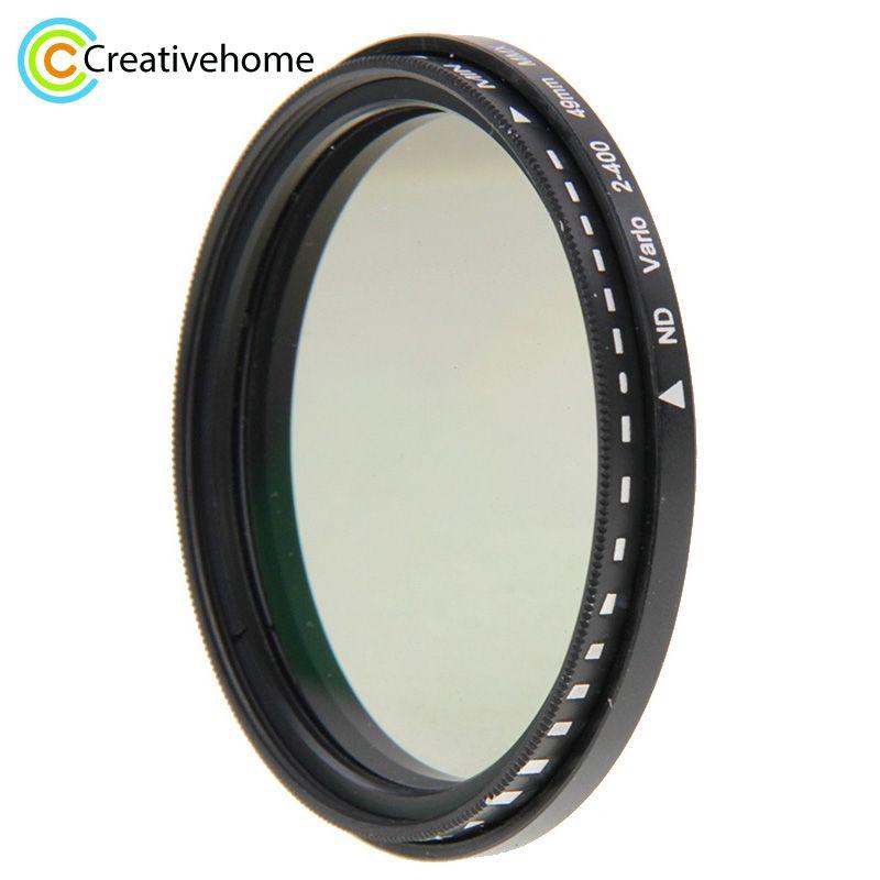 49mm 52mm 58mm 62mm 68mm 72mm 77mm 82mm ND lentille de filtre ND Fader densité neutre réglable filtre Variable ND 2 à ND 400 filtre
