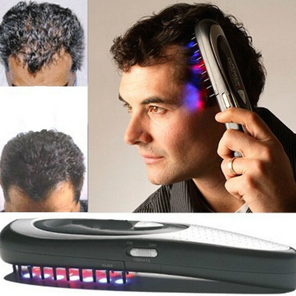 1pc électrique Laser cheveux croissance peigne brosse à cheveux Laser perte de cheveux arrêt de repousse thérapie peigne Ozone infrarouge masseur livraison directe