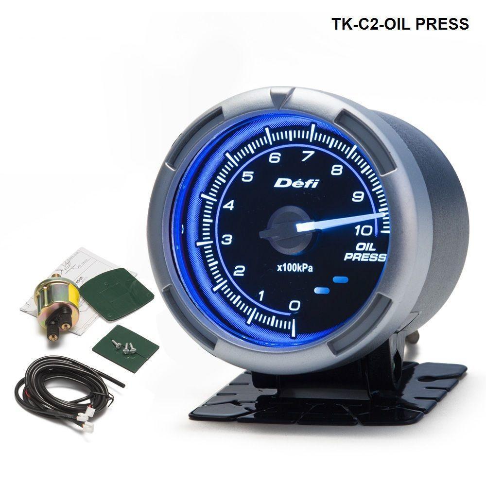 DF Link Meter ADVANCE C2 Oil Pressure Gauge Blue For Jeep Wrangler 87-06 TK-C2-OIL PRESS