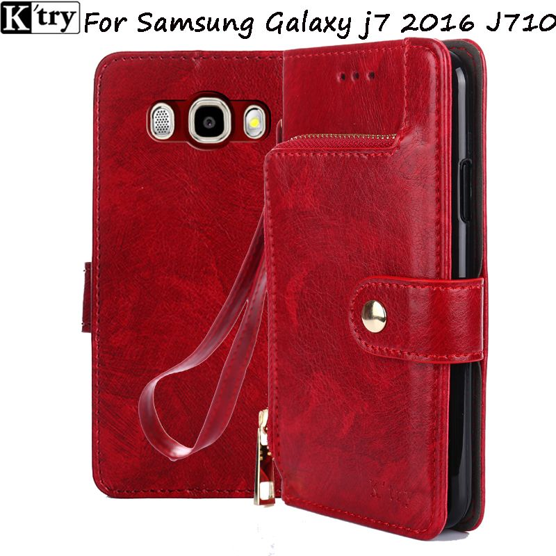 K;try for samsung J7 2016 case flip PU leather soft silicon back for samsung galaxy J7 2016 J710 cover