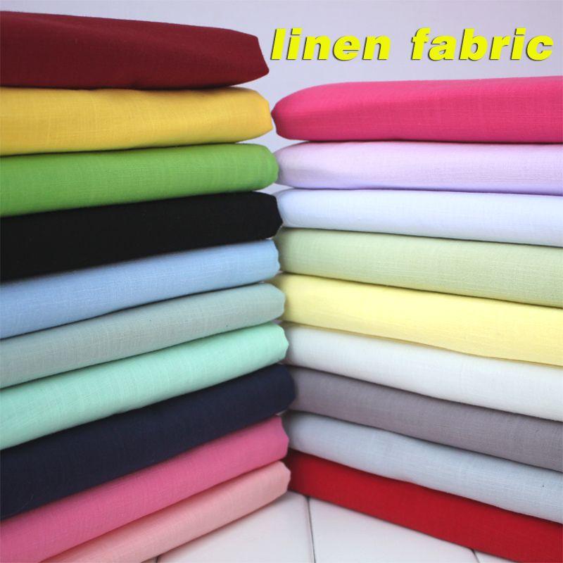 Lin Coton Mélange Tissu Lin Coton Tissu Toile De Lin D'été Vêtements Tissu Jupe 55