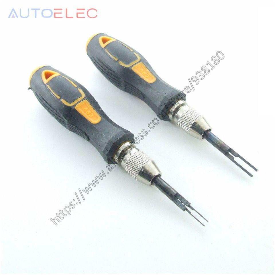 1 pièces AT35 & 1 pièces AT15 Broches Libération Extracteur Crimp Pin Pigtail Plug Terminal Retrait Démonter Outil Kit pour molex DELPHI tyco AMP