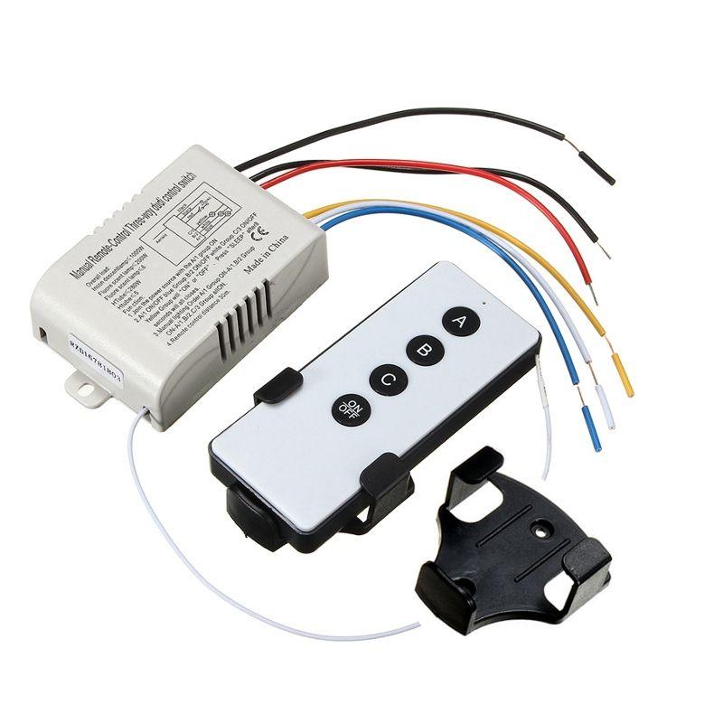 3 Way Port AUF/OFF Drahtlose Digitale RF Fernsteuerungsschalter Receiver Transmitter Für Licht Lampe 220 V