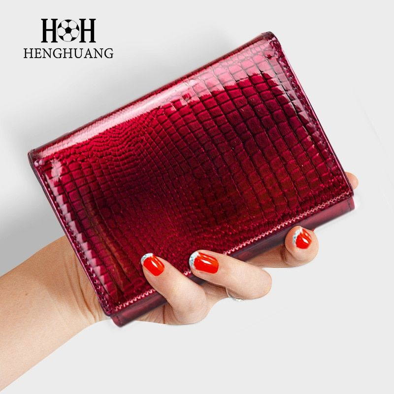 HH Women Wallet and Purse Genuine Leather Alligator Female Short wallets Fashion Ladies Clutch bags Coin Purses 2018 new style